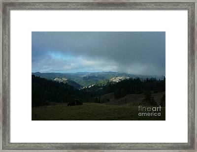 Break In The Storm Framed Print by JoAnn SkyWatcher