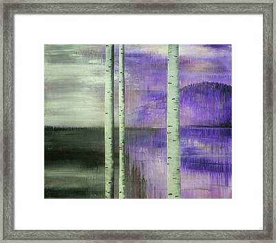 Break In The Storm Left Framed Print by Chad Rice