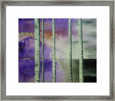 Break In The Storm Right Framed Print by Chad Rice