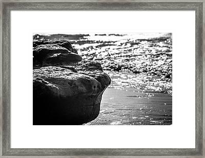Break In The Surf Framed Print
