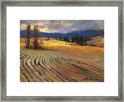 Framed Print featuring the painting Break In The Weather by Steve Henderson