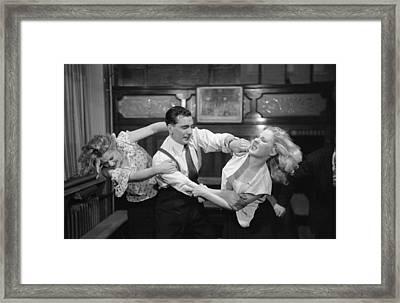 Break It Up Framed Print by Bert Hardy