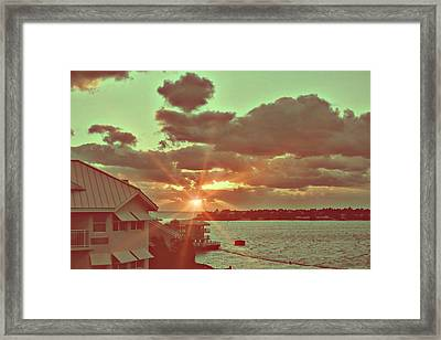 Island Break Of Day Framed Print by JAMART Photography