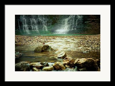 Tripple Falls Framed Prints