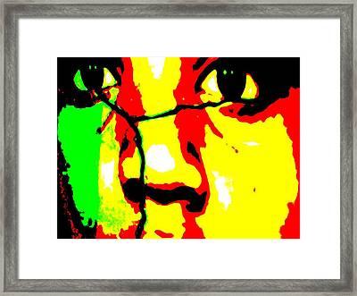 Framed Print featuring the mixed media Break The Silence by Fania Simon