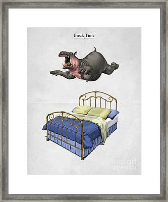 Break Time Framed Print by Rob Snow