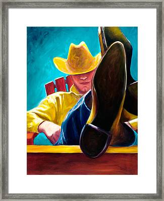 Break Time Framed Print by Shannon Grissom