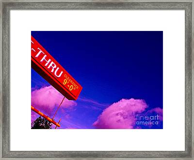 Break Today Framed Print by Chuck Taylor