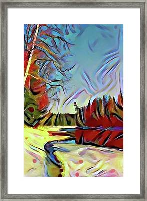 Break-up On The Mountain Taiga River Framed Print by Evgeny Parushin