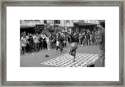 Breakdance At Bogota Colombia Framed Print
