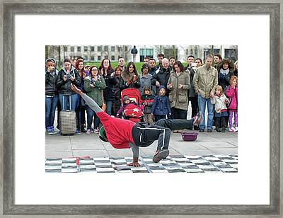Breakdancer Framed Print
