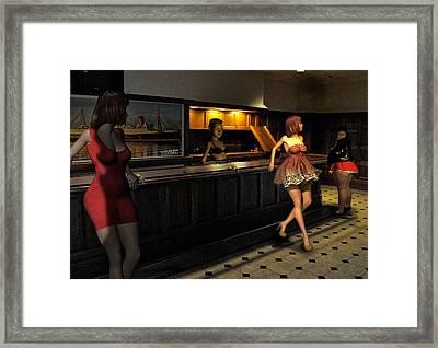 Breaker Bar Girls Framed Print by Bob Winberry