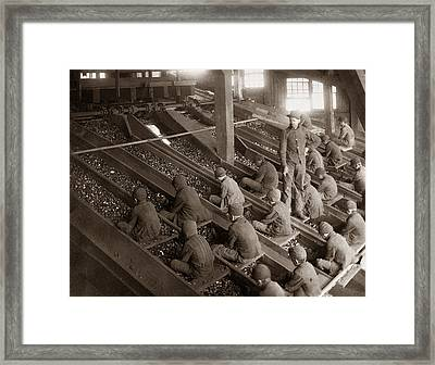 Breaker Boys Lehigh Valley Coal Co Maltby Pa Near Swoyersville Pa Early 1900s Framed Print