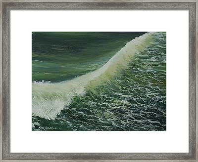 Framed Print featuring the painting Breaker by Ken Ahlering