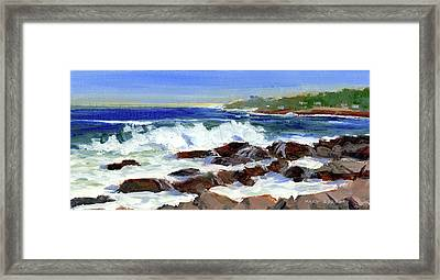 Breakers On The Point Framed Print