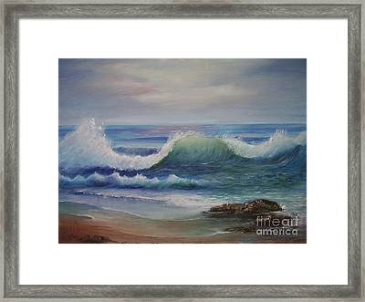 Breakers Framed Print by Rita Palm