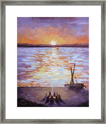 Breakfast At Dawn Framed Print by Mike Moyers