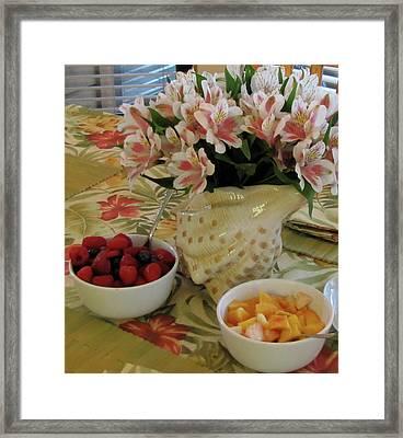 Breakfast At Mary's Framed Print