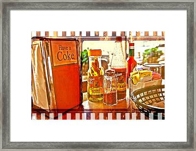 Breakfast At Paul's Framed Print by Toni Hopper