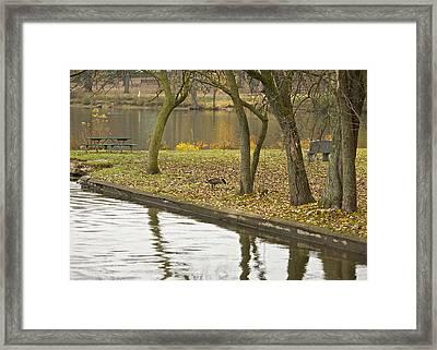 Breakfast At The Lake Framed Print by Robert Joseph