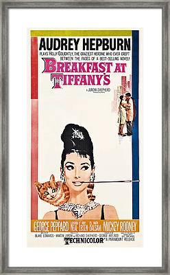 Breakfast At Tiffany's 2 Vintage Lobby Poster  1961 Framed Print by Daniel Hagerman