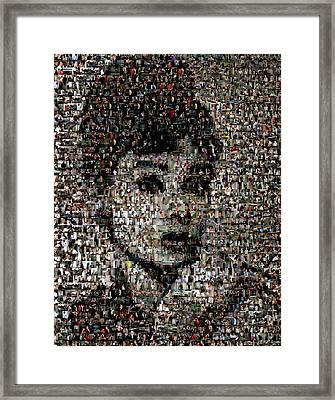 Breakfast At Tiffany's Mosaic Framed Print by Paul Van Scott
