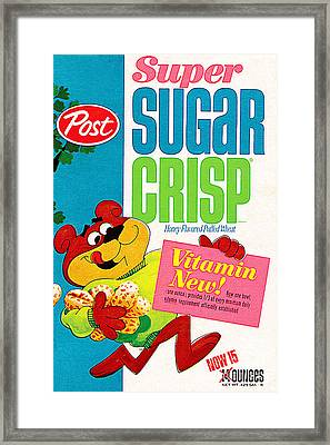 Breakfast Cereal Super Sugar Crisp Pop Art Nostalgia 20160215 Framed Print by Wingsdomain Art and Photography