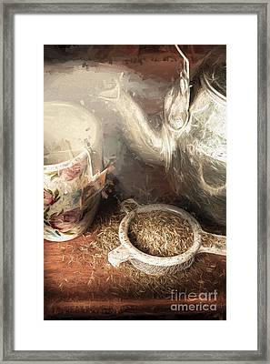 Breakfast In Bed At A Bed And Breakfast Framed Print