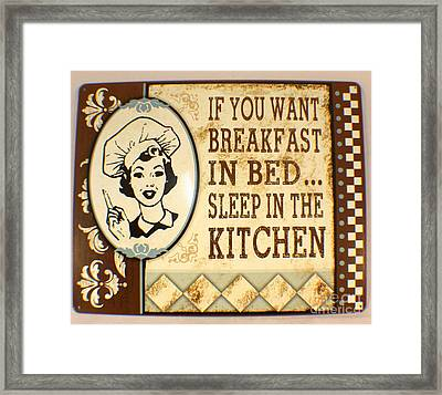 Breakfast In Bed Framed Print by Pg Reproductions