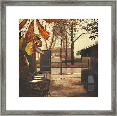 Breakfast In Paris Framed Print by Helen Parsley