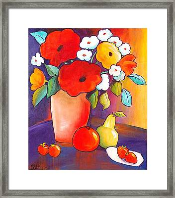 Breakfast In Tahiti Framed Print by Carrie Allbritton