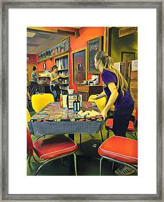 Breakfast In Wimberley Framed Print