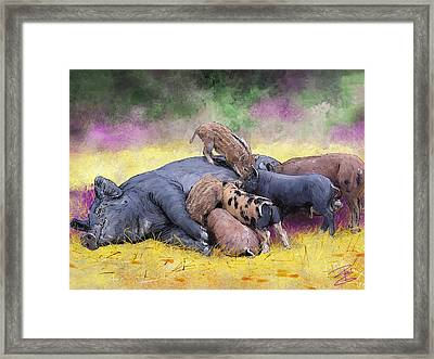 Breakfast Is Ready Framed Print by Debra Baldwin