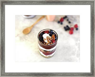 Breakfast Is  Served Framed Print by Happy Home Artistry