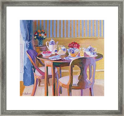 Breakfast Table Framed Print