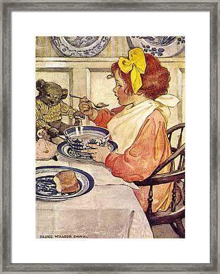 Breakfast With Teddy Framed Print by Jessie Wilcox Smith