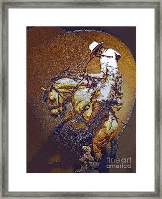 Breakin A Bronc Framed Print by Al Bourassa