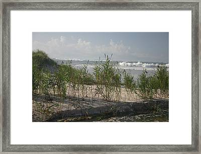 Breaking Calm Framed Print by Dennis Curry