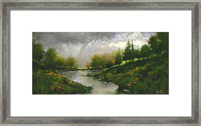 Breaking Clouds Framed Print