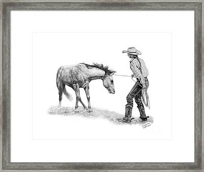 Breaking Colts Framed Print by Sabrina  Thiel