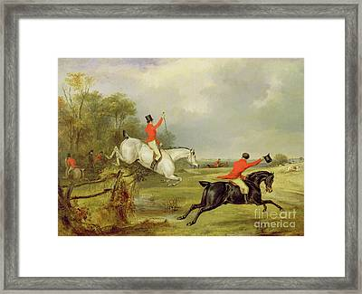 Breaking Cover, Bachelor's Hall  Framed Print by Francis Calcraft Turner