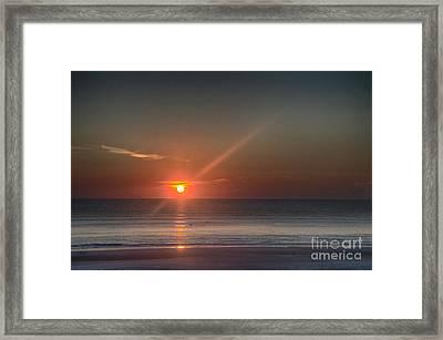 Breaking Dawn Daytona Beach Framed Print by Judy Hall-Folde