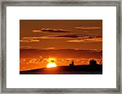 Breaking Dawn Over Straitsmouth Framed Print
