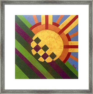 Cbs Sunday Morning Breaking Day Framed Print