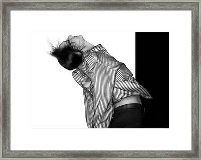 Breaking Free - Self Portrait Framed Print by Jaeda DeWalt