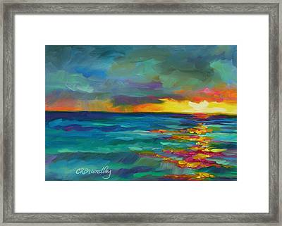 Framed Print featuring the painting Breaking Light by Chris Brandley