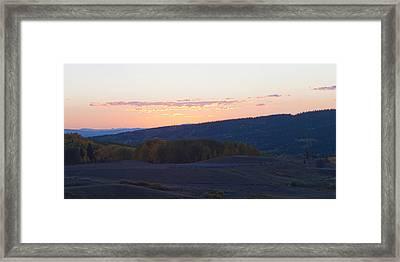 Breaking Morn Over Gore Range Framed Print by Daniel Hebard