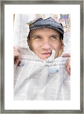 Breaking News Headlines Framed Print