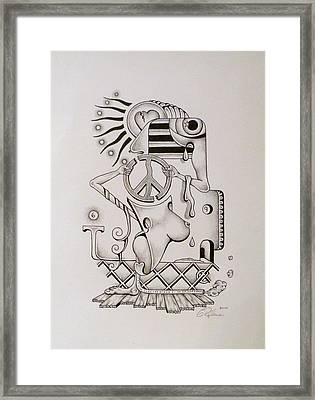 Breaking Peace  Framed Print by Eric Rabbers