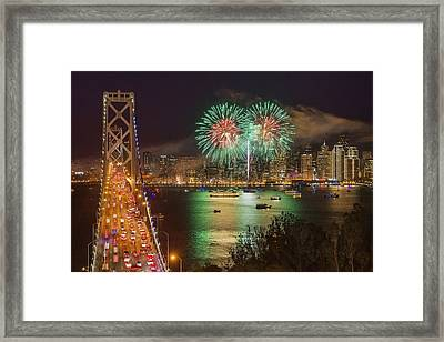 Breaking Rules On New Year's Eve Framed Print by Peter Thoeny
